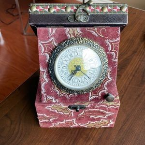 Jewelry box with clock/ chest